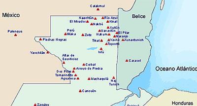 Mapa de la Ruta Maya